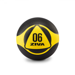 ZIVA Medicine Ball Black and Yellow