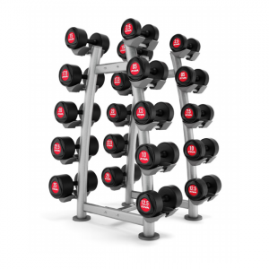 ZIVA SL Urethane Dumbbells & Vertical Rack