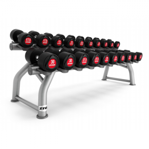 ZIVA SL Urethane Dumbbells 2 Tier Rack