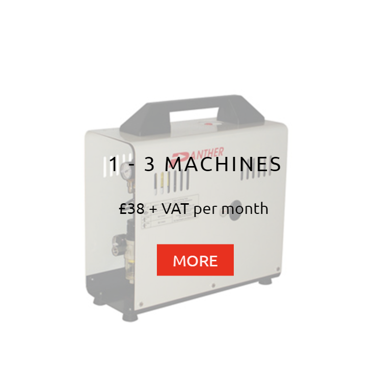 Compressor to 3 machines Panther Rental Prices