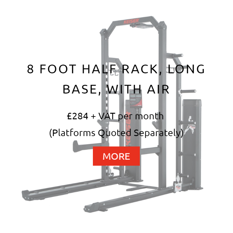Keiser 8Ft Half Rack LB with Air Rental Prices