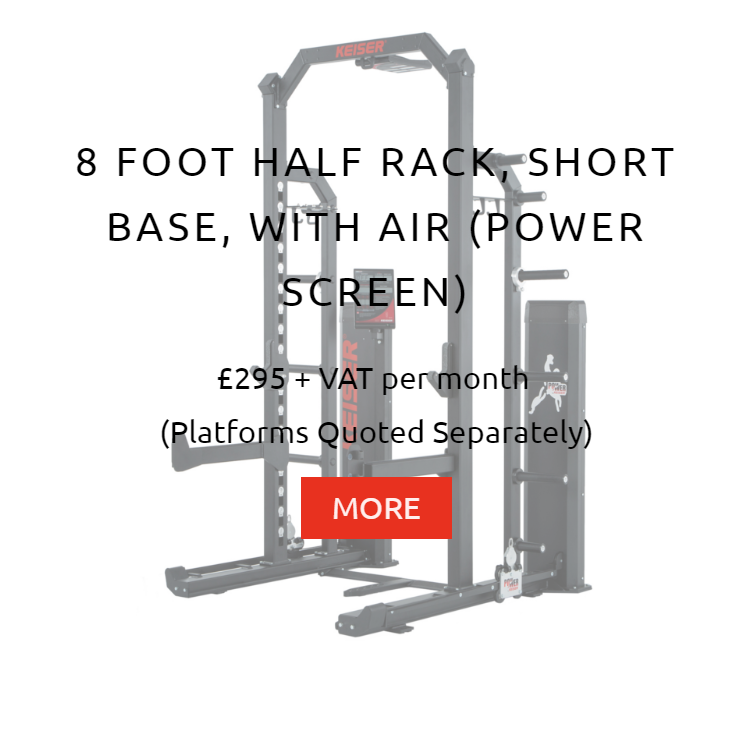 Keiser 8Ft Half Rack with Air Rental Prices