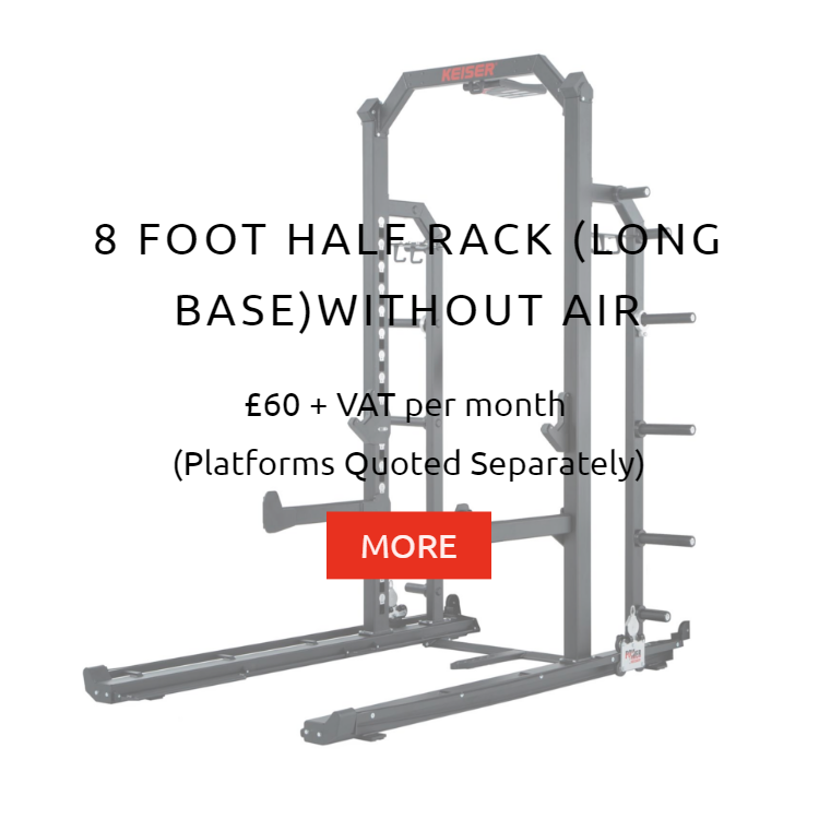 Keiser 8Ft Half Rack wo Air Rental Prices