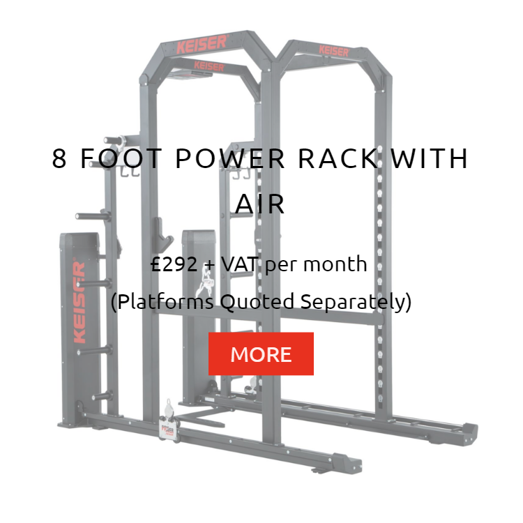 Keiser 8Ft Power Rack with Air Rental Prices