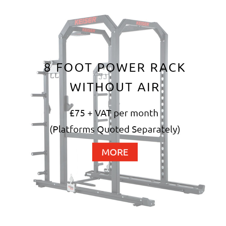 Keiser 8Ft Power Rack without Air Rental Prices
