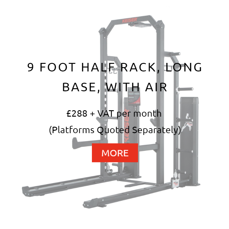 Keiser 9Ft Half Rack LB with Air Rental Prices