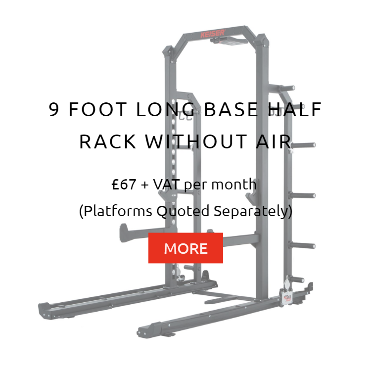 Keiser 9Ft Half Rack wo Air Rental Prices