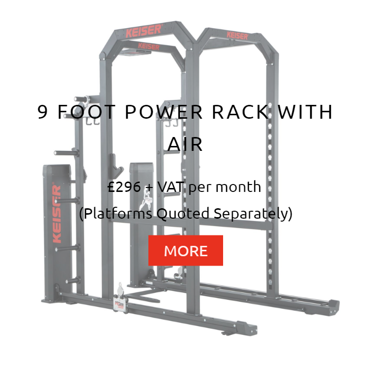 Keiser 9ft Power Rack with Air Rental Prices
