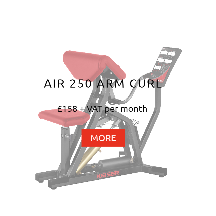 Keiser Air 250 Arm Curl Rental Price