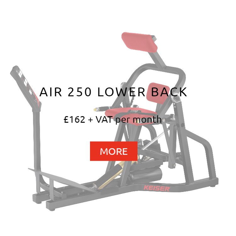 Keiser Air 250 Low Back Rental Price
