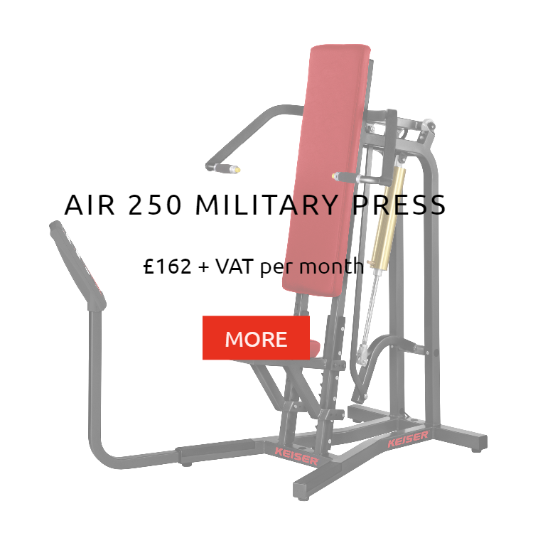 Keiser Air 250 Military Press Rental Price