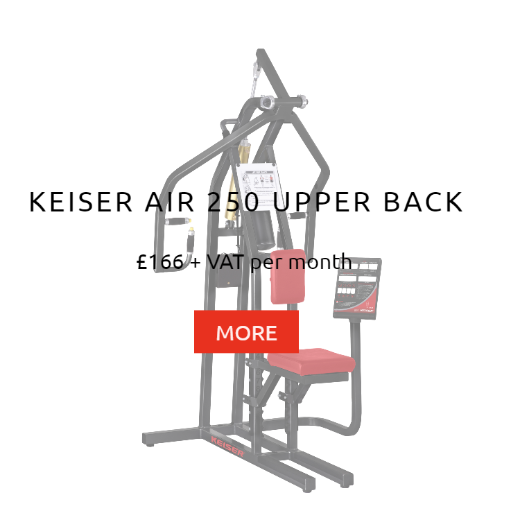 Keiser Air 250 Upper Back Rental Price