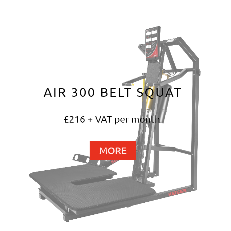 Keiser Air 300 Belt Squat Rental Price