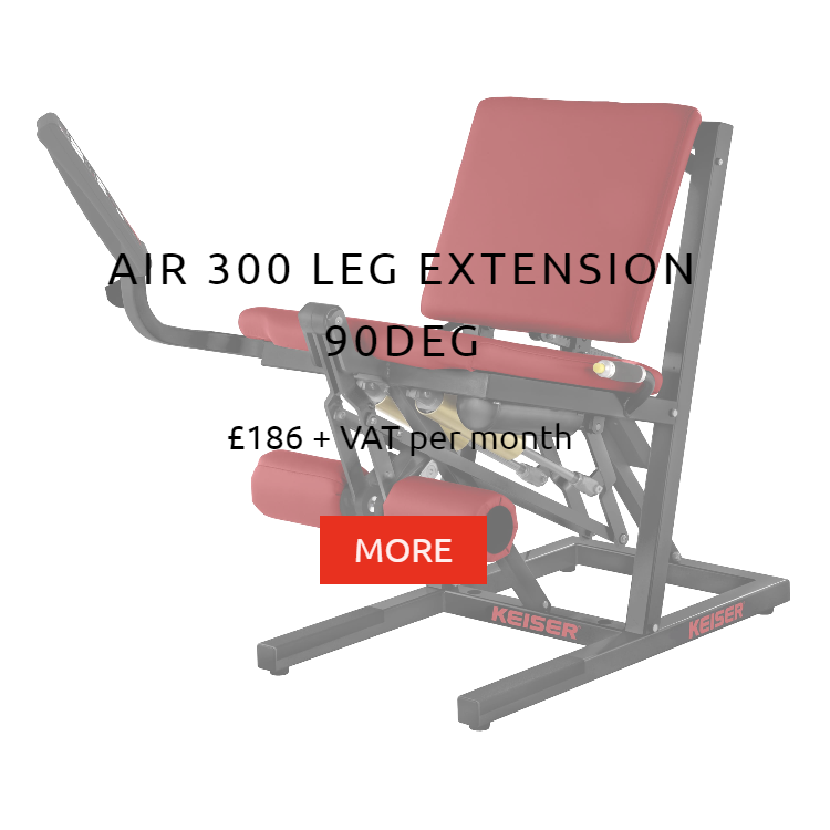 Keiser Air 300 Leg Extension 90deg Rental Price