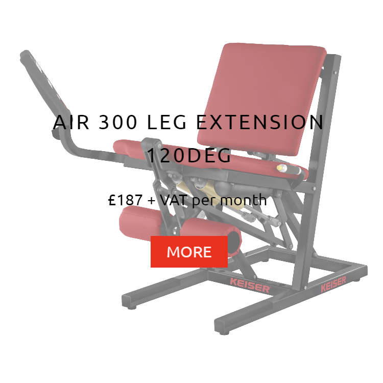 Keiser Air 300 Leg Extension Rental Price