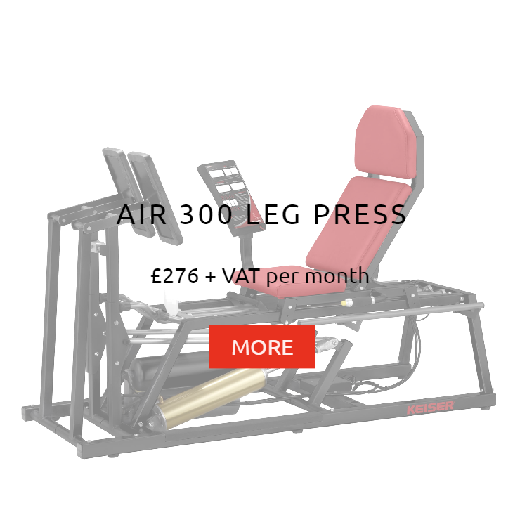 Keiser Air 300 Leg Press Rental Prices