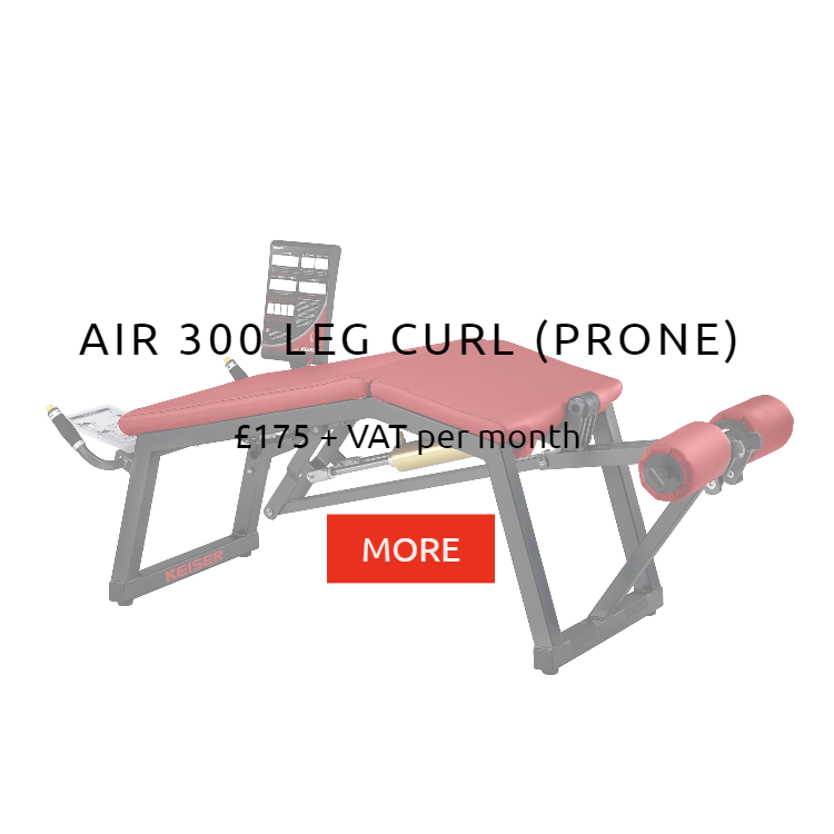 Keiser Air 300 Prone Leg Curl Rental Prices