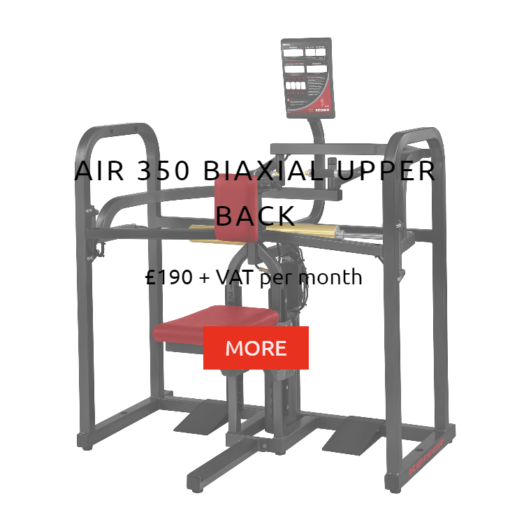 Keiser Air 350 Biaxial Upper Back Rental Prices